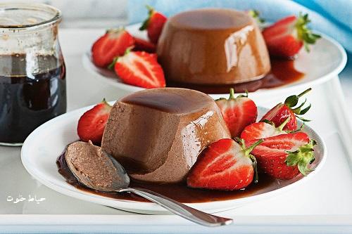 طرز تهیه دسر پاناکوتا شکلاتی