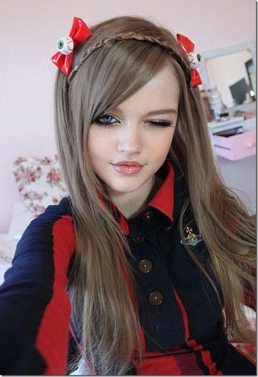 دختر 16 ساله زیبا معروف به باربی