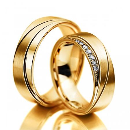مدل های حلقه ازدواج طلا زرد,ست حلقه عروسی طلا زرد