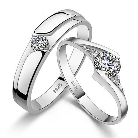 ست حلقه ازدواج تک نگین