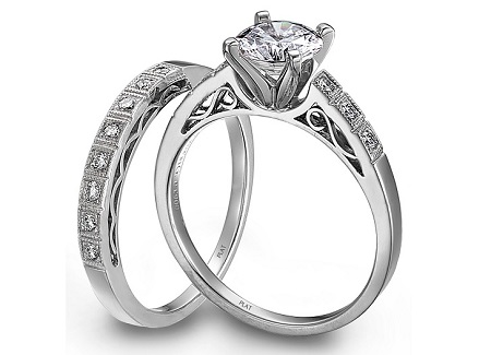 ست حلقه ازدواج جواهر