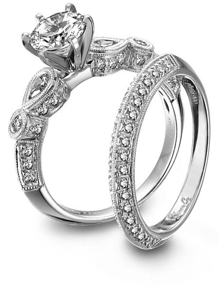 مدل های حلقه ازدواج طلا سفید,ست حلقه عروسی طلا سفید