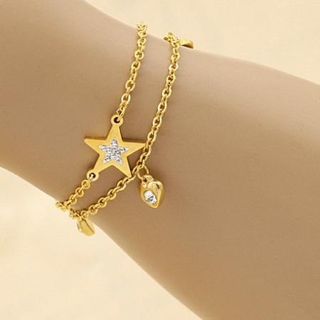 دستبند طلا ظریف , دستبند طلا دخترانه