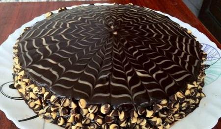 گاناش کشی,گاناش روی کیک
