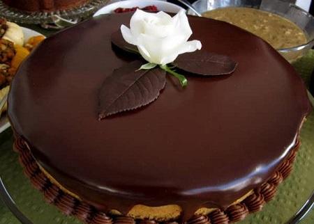تزیین کیک ساده , تزیین کیک با گاناش , گاناش