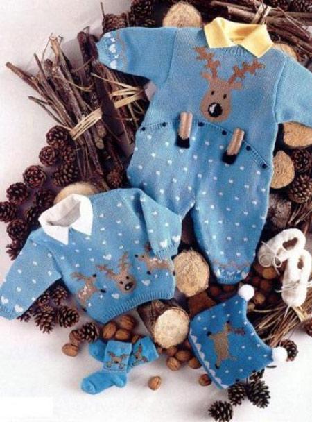 شیک ترین لباس های بافتنی نوزادی