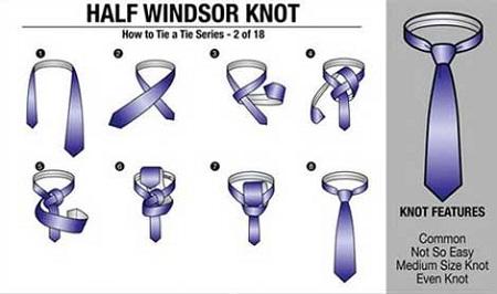 بستن کراوات , بستن کراوات تصویری
