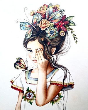 زیباترین عکس های نقاشی شده دخترانه برای پروفایل