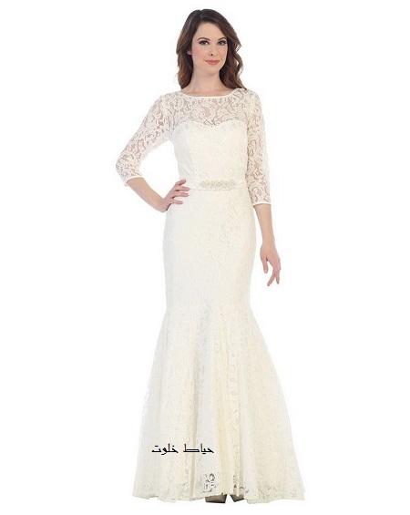 مدل لباس مجلسی بلند و سفید