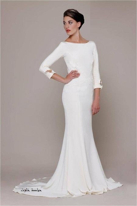 جدیدترین مدل های لباس مجلسی سفید و بلند
