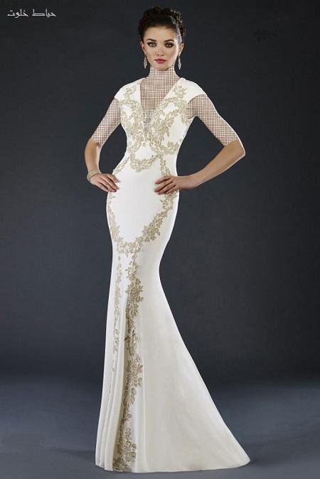 مدل لباس عقد سفید و بلند