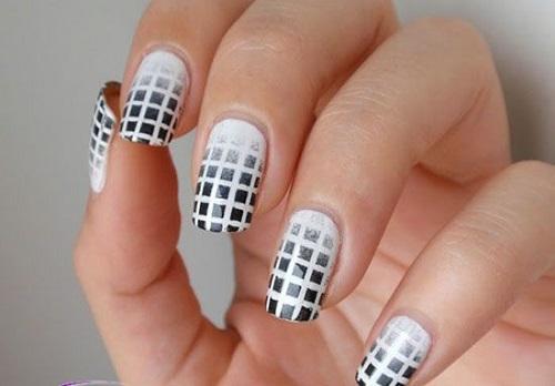 طراحی ناخن جدید, طرح ناخن سیاه و سفید