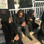 مهناز افشار در مراسم تشییع پیکر شهدای آتش نشان