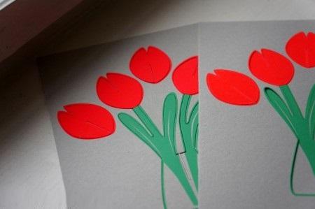 کاردستی گل لاله برای دهه فجر