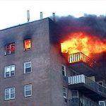 آتش سوزی در خوابگاه دانشجویی تهران