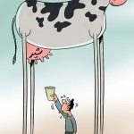 تصاویر طنز گرانی گوشت و شیر