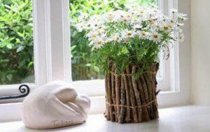تزئین زیبای گلدان با شاخه های درخت + عکس