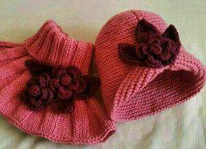 آموزش بافت کلاه و شال گردن دخترانه