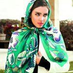 مدل روسری سبز،رنگ سال ۹۶
