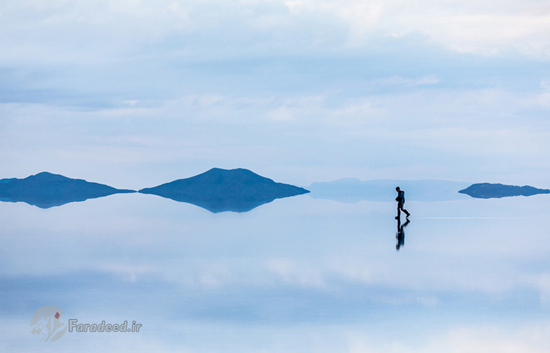 بزرگ ترین آیـنه طبیعی جهان در مرز بـولیوی