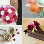 آموزش تصویری درست کردن گل رز کاغذی برای ولنتاین