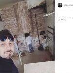 سلفی خواننده ایرانی در نانوایی سنگکی آمریکا