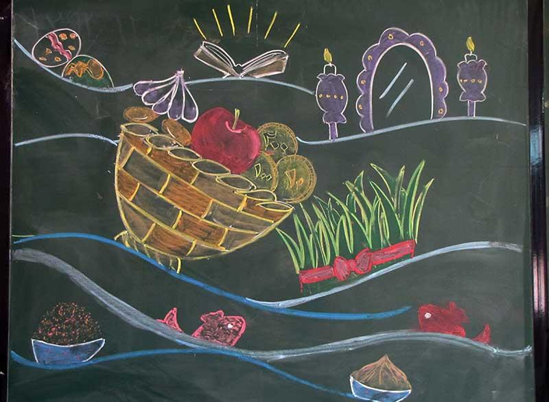 نقاشی هفت سین کودکانه