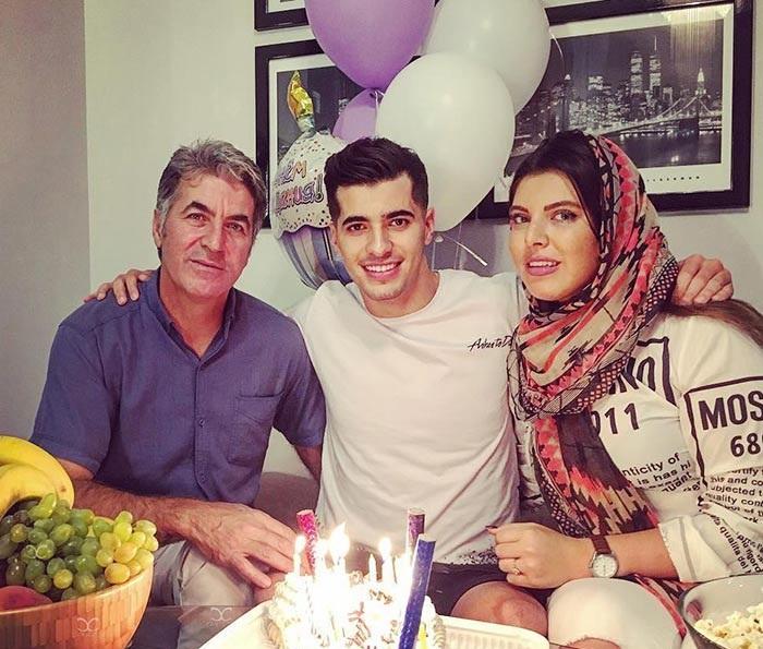عکس تولد سعید عزت اللهی همراه خواهر و پدرش