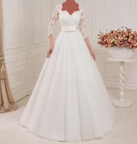 زیباترین مدل های لباس عروس آستین دار