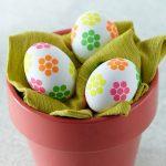 تزیین تخم مرغ هفت سین با کاغذ رنگی و پارچه