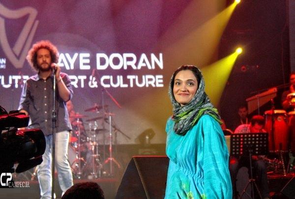 میترا حجار در کنسرت همسرش سینا حجازی