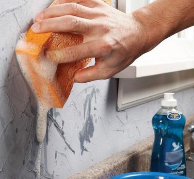 تمیز کردن لکه های روی دیوار , خانه تکانی