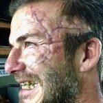 گریم وحشتناک دیوید بکهام در فیلم گای ریچی