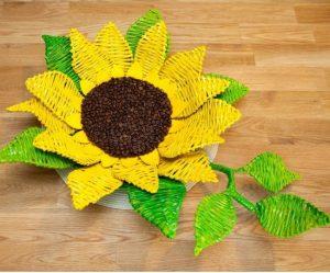 آموزش ساخت ظرف هفت سین گل آفتابگردان