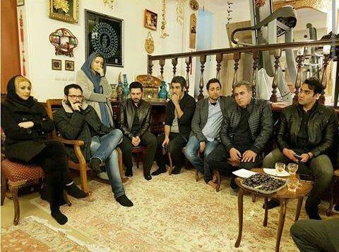 عکس های بازیگران در منزل علی معلم