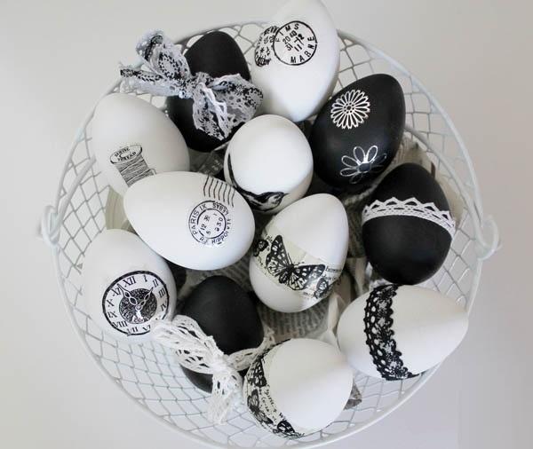 تزئین تخم مرغ برای سفره هفت سین عید