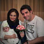 یکتا ناصر با همسر و دخترش در اولین سالگرد ازدواجش