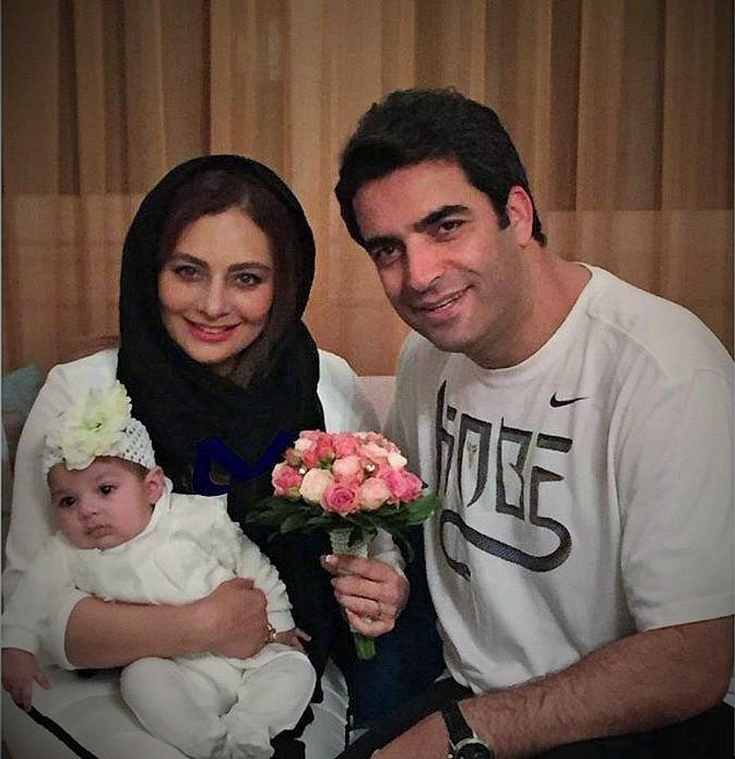 یکتا ناصر و همسر و فرزندش