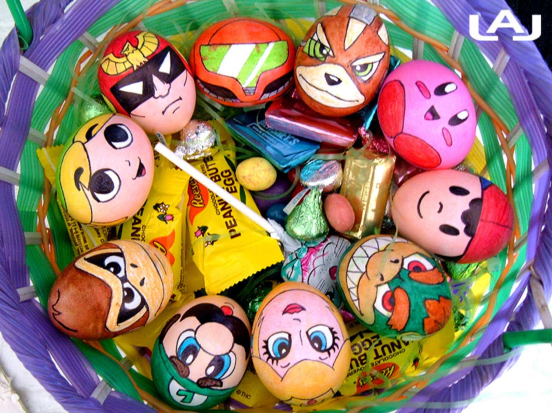 رنگ آمیزی کودکانه تخم مرغ عید
