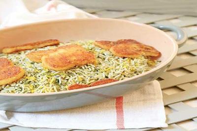 غذای گیاهی , سبزی پلو شب عید مخصوص گیاهخواران