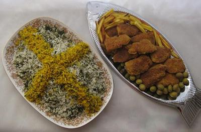 سبزی پلو با ماهی شب عید به سبک اراکی ها
