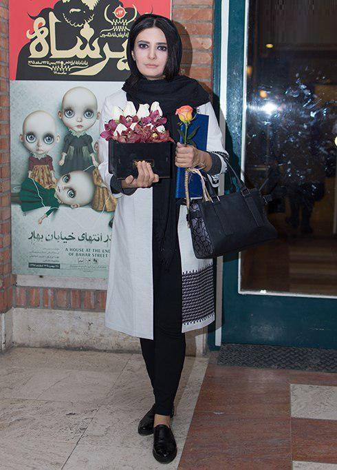 لیندا کیانی در پشت صحنه تئاتر حضرت اشرف