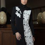 مدل های جدید مانتو سیاه و سفید برای نوروز ۹۶