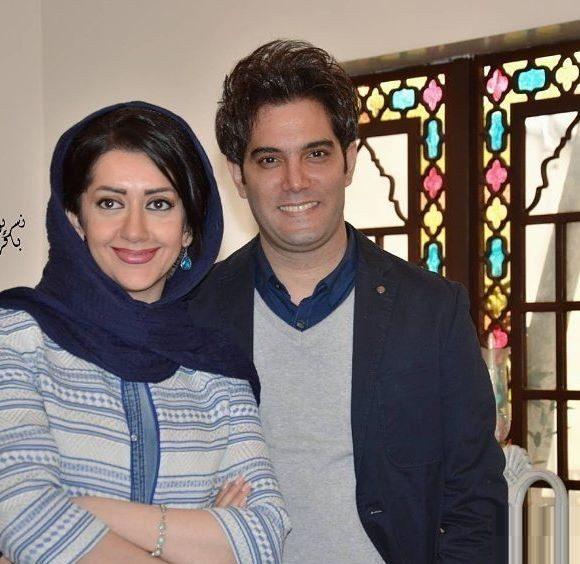 امیرعلی نبویان و همسرش