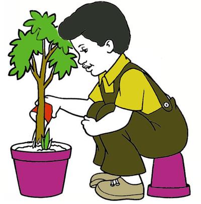نقاشی کودکانه روز درختکاری