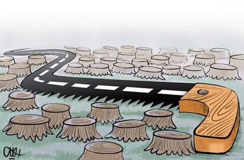 کاریکاتور مفهومی روز درختکاری