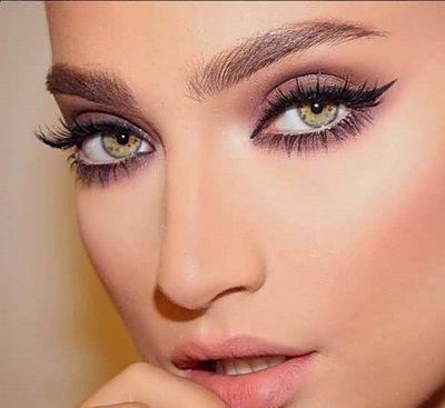 چشم درشت , آرایش چشم ریز