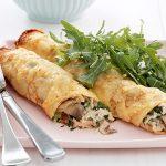طرز تهیه کرپ مرغ و سبزیجات