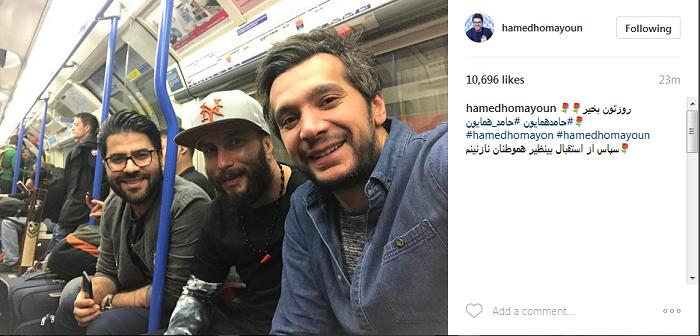 خواننده معروفی که با مترو سفر می کند+عکس