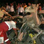 تصادف مرگبار شتر با پراید ۷ کشته و زخمی برجای گذاشت+عکس